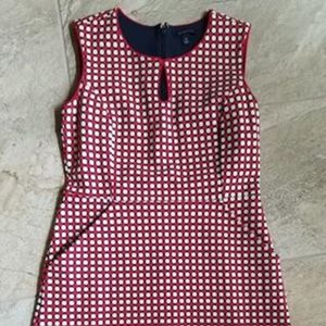 Lands End size 6 red white polka dot dress size 6